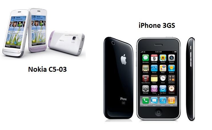 gadget guide nokia c5 vs iphone 3gs mybusinesslab. Black Bedroom Furniture Sets. Home Design Ideas